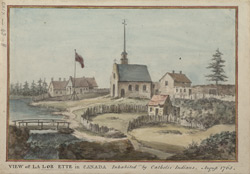 VIEW of LA LOR ETTE in Canada, Inhabited by Catholic Indians